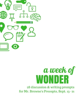 Comprehension Questions for 365 Days of Wonder Precepts (Sept 15-21)