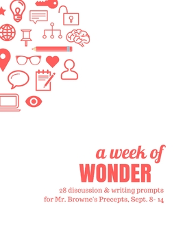 Comprehension Questions for 365 Days of Wonder (Sept 8-14)