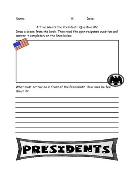 "Comprehension Questions for ""Arthur Meets the President"" by Marc Brown"