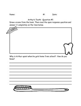 "Comprehension Questions for ""Arthur's Tooth"" by Marc Brown"