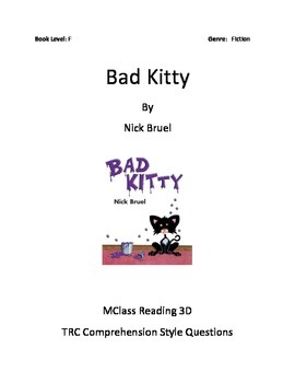 Comprehension Questions for Bad Kitty