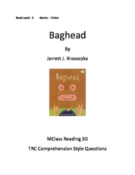 Comprehension Questions for Baghead