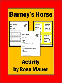 Comprehension Questions for Barney's Horse