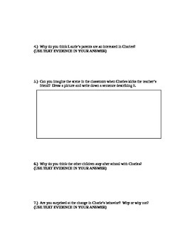 """Comprehension Questions for """"Charles"""" by Shirley Jackson"""