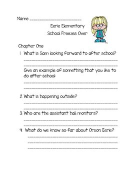 Comprehension Questions for Eerie Elementary School Freezes Over!