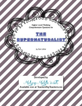 Comprehension Questions for The Supernaturalist by Eion Colfer