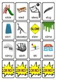 OH NO! Articulation Game Cards for higher S-blends (SK, SL