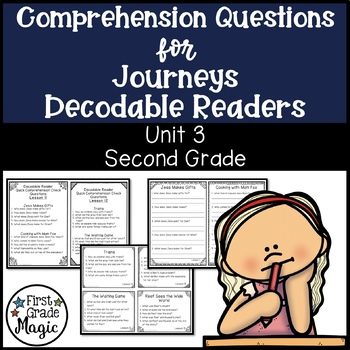 Journeys SECOND GRADE Comprehension Questions For Decodable Readers Unit 3
