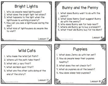 Journeys SECOND GRADE Comprehension Questions for Decodable Readers Unit 4