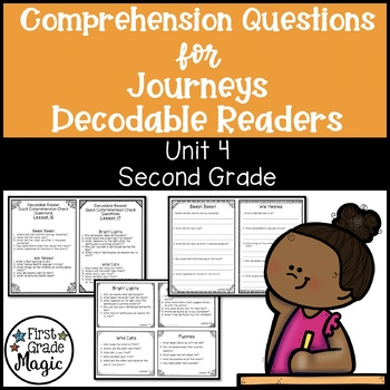 Journeys SECOND GRADE Comprehension Questions for Decodabl