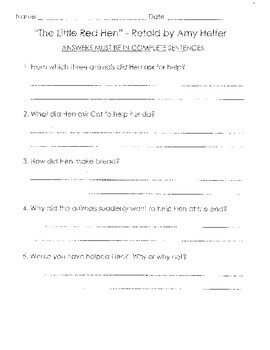 Comprehension Questions for LLI Blue Kit - ENTIRE SERIES -