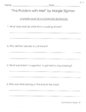 Comprehension Questions for LLI Blue Kit, Stories 71-80