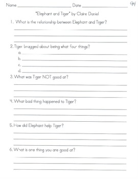 Comprehension Questions for LLI Blue Kit, Stories 91-100