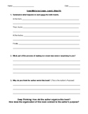 Comprehension Questions for LLI Blue System Level L Lessons 91-100