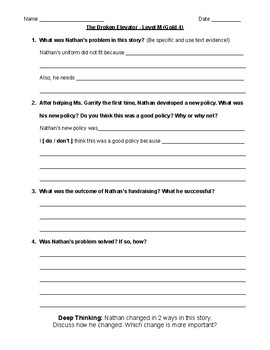 Comprehension Questions for LLI Gold System Level O Lessons 1-28