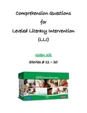 Comprehension Questions for LLI Green Kit, Stories 11-20