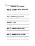 Comprehension Questions for Magic Tree House Night of the Ninjas