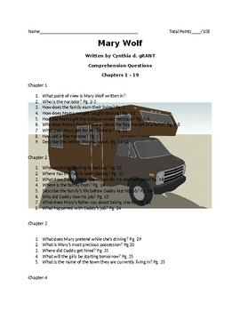 Comprehension Questions for Mary Wolf