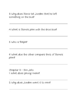 Comprehension Questions for 'Snake Camp' by George Stanley