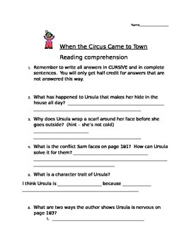 Comprehension Questions for Story Town Grade 5 - Theme 2