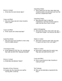 Comprehension Questions for The Patchwork Quilt by Valerie