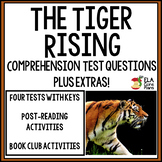 Comprehension Questions for The Tiger Rising ~ Plus Extras!