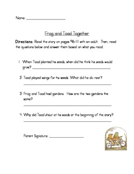 Comprehension Questions for Unit 3 First Grade Reading Street