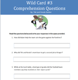 Comprehension Questions for Wild Card by Tiki and Ronde Barber