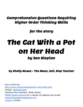 Comprehension Questions for the Story The Cat Who Wore a Pot on her Head