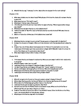 Comprehension Questions for the novel Maniac Magee