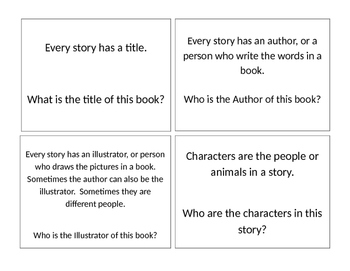 Comprehension Questions that can be used for any book or small group reading