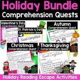 Reading Comprehension Quests® Holiday Bundle