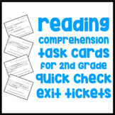 Comprehension Quick Check Cards - 2nd Grade - Exit Tickets