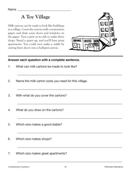 Comprehension Quickies (Reading Level 4)