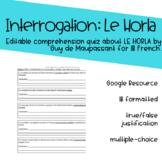 Comprehension Quiz - Le Horla (Google Resource)