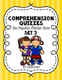 Comprehension Quizzes for Popular Mentor Texts Set 3 (10 Quizzes + Answer Keys)