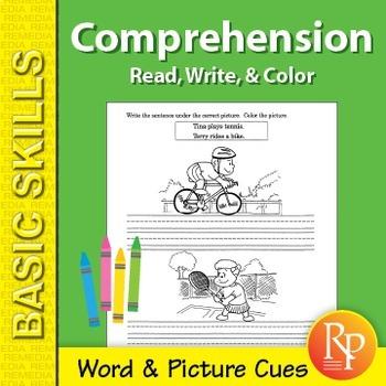 Comprehension: Read, Write, & Color 1