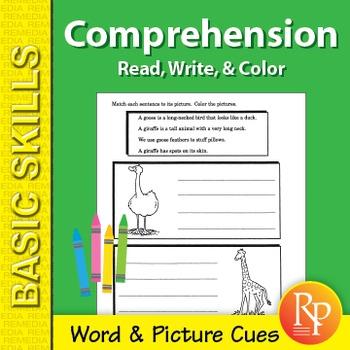 Comprehension: Read, Write, & Color 2