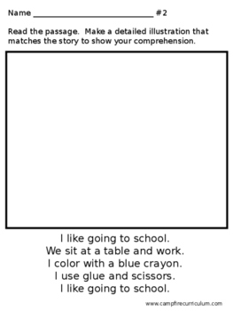 Comprehension Read and Draw