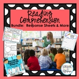 Reading Comprehension Response Sheets and Strategies BUNDLE