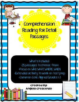 Comprehension Reading for Detail Passages