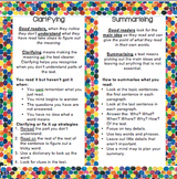 Comprehension: Reeading- Reciprocal Teaching Bookmarks-  E