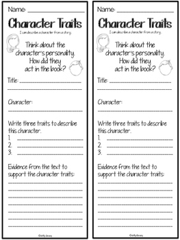 Comprehension Response Bookmarks