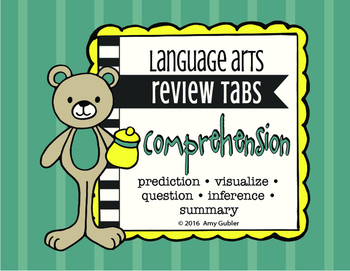 Comprehension- Review Tabs (prediction, visualize, question, inference, summary)