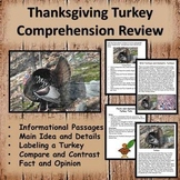 Thanksgiving Worksheets - Comprehension with Informational Passages