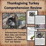 Thanksgiving Reading Comprehension Worksheets - Informatio