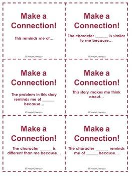 Reading Comprehension Sentence Starter Cards
