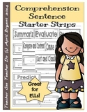 Comprehension Sentence Starter Strips