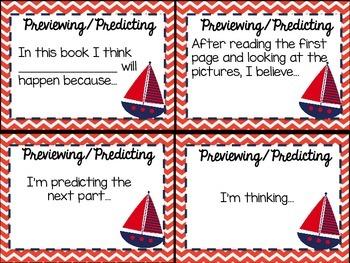 Comprehension Sentence Starter Task Cards