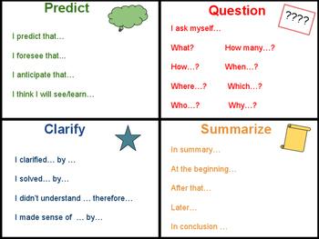 Comprehension Sentence Stems